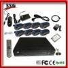 CCTV H.264 DIY DVR Kit with 8-channel DVR, 8 Cameras built in GSM burglar alarm system