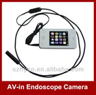 Semi Hard Line AV-in Borescope Camera Infrared with 2.4 inch LCD Monitor