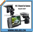 HOT! HD 720P Separate 2 camera CAR black box with reversing rear view RLDV-997