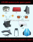 AX100 motorcycle spare parts with high quality