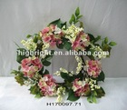 hanmade artificial flower wreaths for spring
