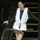 2012 ladies' fashion style fux fur vest