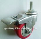 3 inch caster wheel with brake