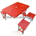 ABS portable picnic table, red