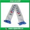 korea sport Fan Scarf of 100% polyester satin material