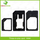 Three in One Nano SIM Card To SIM Card Adaptor For iPhone 5