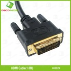 1.8M HDMI To DVI Cable For HDTV PC Monitor LCD
