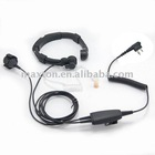 Walkie talkie throat mic with acoustic tube finger PTT for motorola two pins radio