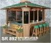 spa Gazebo wooden Canopy