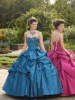 Fashion sweetheart beading with jacket quinceanera dresses