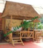 Natural bamboo tiki bar for garden or park rest