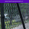 Barb end black vinyl coated chain link fence
