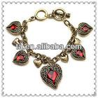 2012 Jewelry fashion heart bead bracelet for girls
