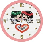 cross stitch clock -- sh007 cross stitch artwork,hand embroidery