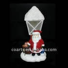 Resin LED christmase santa decoration
