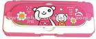 lovely plastic pencil case for kids
