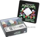 100pc poker chips set in tin box