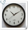 plastic wall clock with glass face, 25cm wall clock