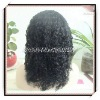 16inch yaki water wave Indian virgin hair full lace wigs