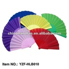 solid color blank plastic hand fan for wedding events