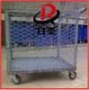 Container unloading equipment storage metal mesh trolley