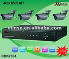 Hot 4ch H.264 Standalone Surveillance Dvr Kit With CCTV Camera