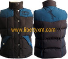 waterproof nylon men's vest body warmer outdoor bodywarmer with western yoke