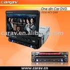 "car dvd-7"" one din in dash car dvd,DVD/VCD/CD/MP3/MPEG4/DIVX/CD-R/WMA/JPEG, Built in TV tuner, PAL/NTSC or SECAM compatible"
