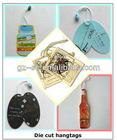 Die cut hang tags with multi color printed