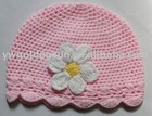 Wholesale Handmade Baby Crochet Hat with Crochet Flower (81351)