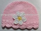 Wholesale Handmade Baby Crochet Hat with Crochet Flower (81351)