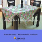 Non woven back PVC table cover with tassels edge