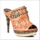 The lastest high quality fashion ladies sandals orange
