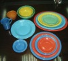 Solid color glaze hotelware ceramic dinnerware