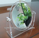 transparent round acrylic mirror; cosmetic/home/table mirror