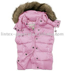 Outdoor girl pink vest with fur 2012 winter