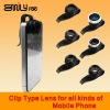 Clip on lens for iPhone 4 4s or mobile phone camera lens