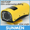 HD720P Night Vision Mini Sports Video Camera DVR Recorder, HDMI, 20M waterproof
