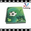 Latest design football cover spiral notebook wholesale for promotion