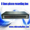 HOT / 8 lines telephone voice recording box,call recorder