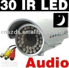 30 LED Waterproof Outdoor IR Night vision CCTV Camera wit Audio surveillance security