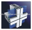 visible horizontal and invisible vertical curtain wall