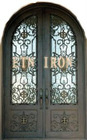 arch top wrought iron double door ETN D021