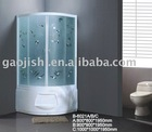 2013 new style 6MM tempered glass sector printing sliding door shower enclosure with ABS tray