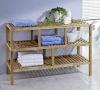 wooden bathroom storage rack ,w/wo 3 drawers,walnut oiled
