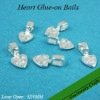 Sterling Silver Plated Heart Glue on Bails for Scrabble Tile Pendants and Glass Tile Pendants