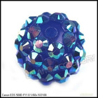 Wholesale Royalblue Resin Rhinestone Charms Ball Spacer Pave Bead 110008