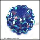 Wholesale Royalblue Resin Rhinestone Charms Ball Spacer Pave Bead 110008