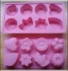 flower shape siliconen cake mold