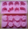 flower shape siliconen cake mold